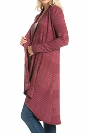 Azules Long Ribbed Cardigan - Front full body