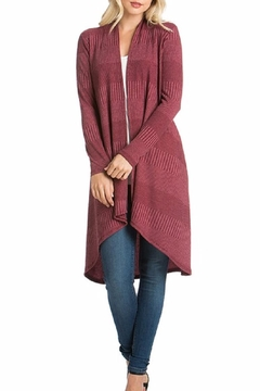 Azules Long Ribbed Cardigan - Product List Image