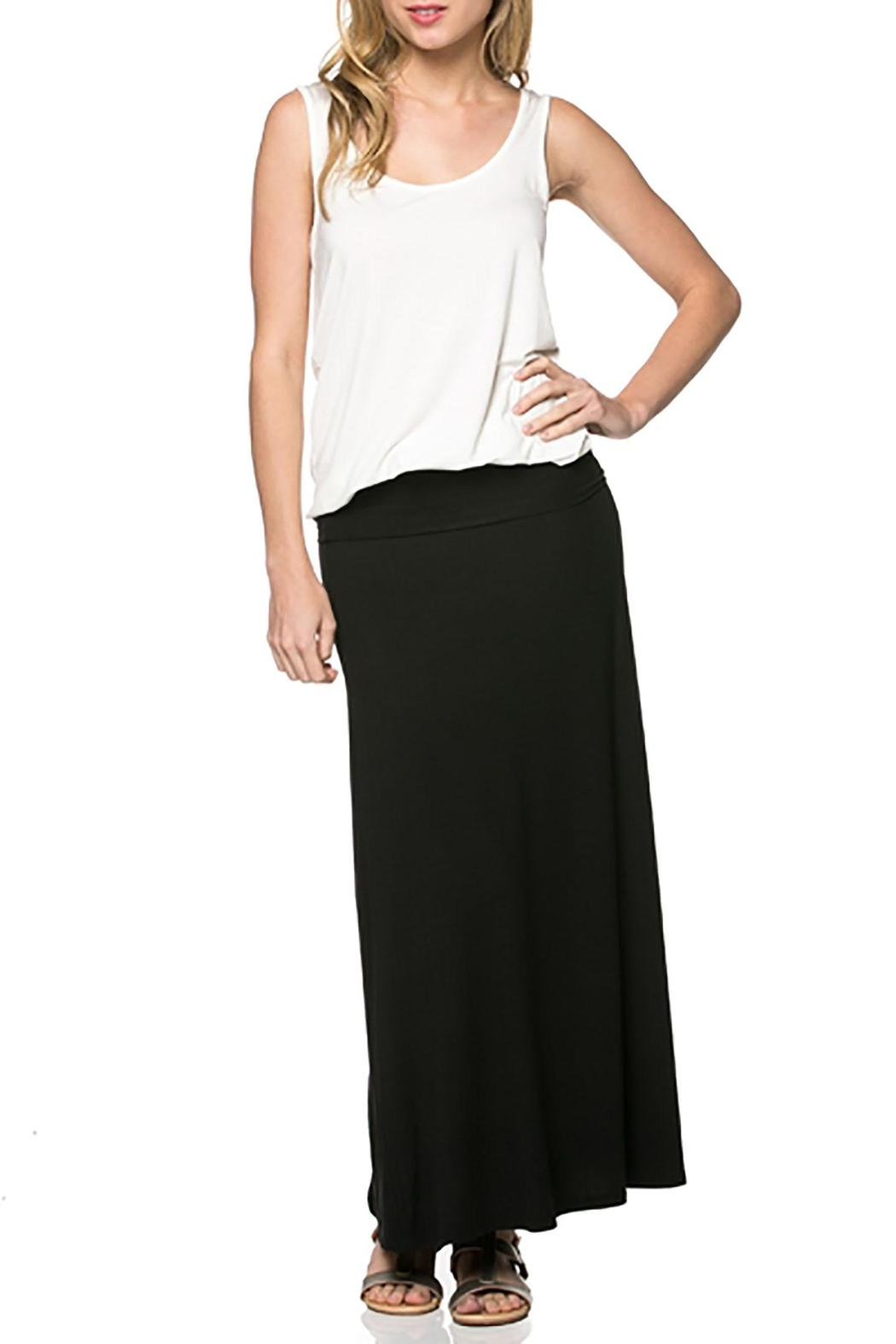 Azules Black Maxi Skirt - Front Cropped Image
