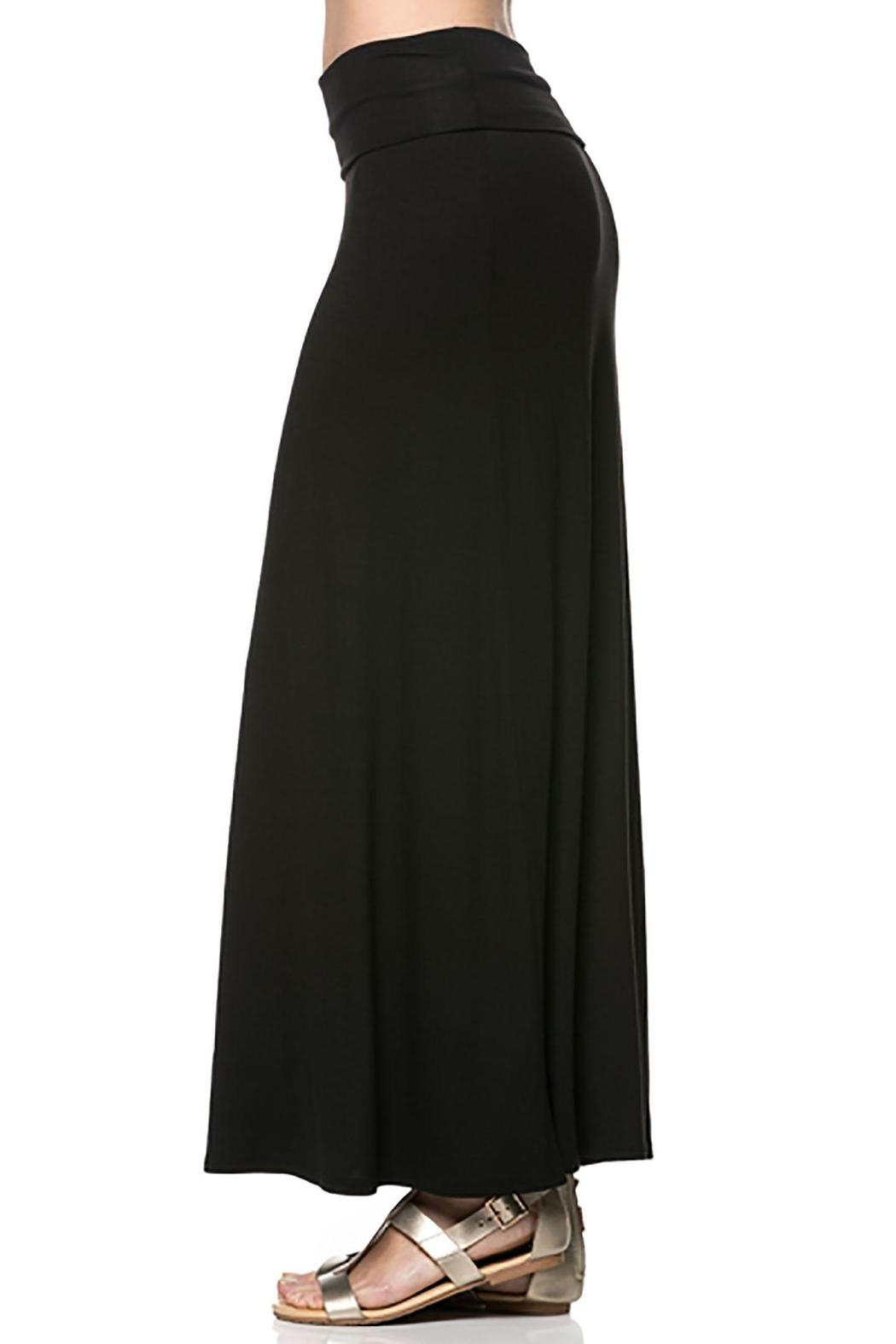 Azules Black Maxi Skirt - Side Cropped Image