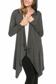 Azules Open Cardigan Hoody - Front cropped