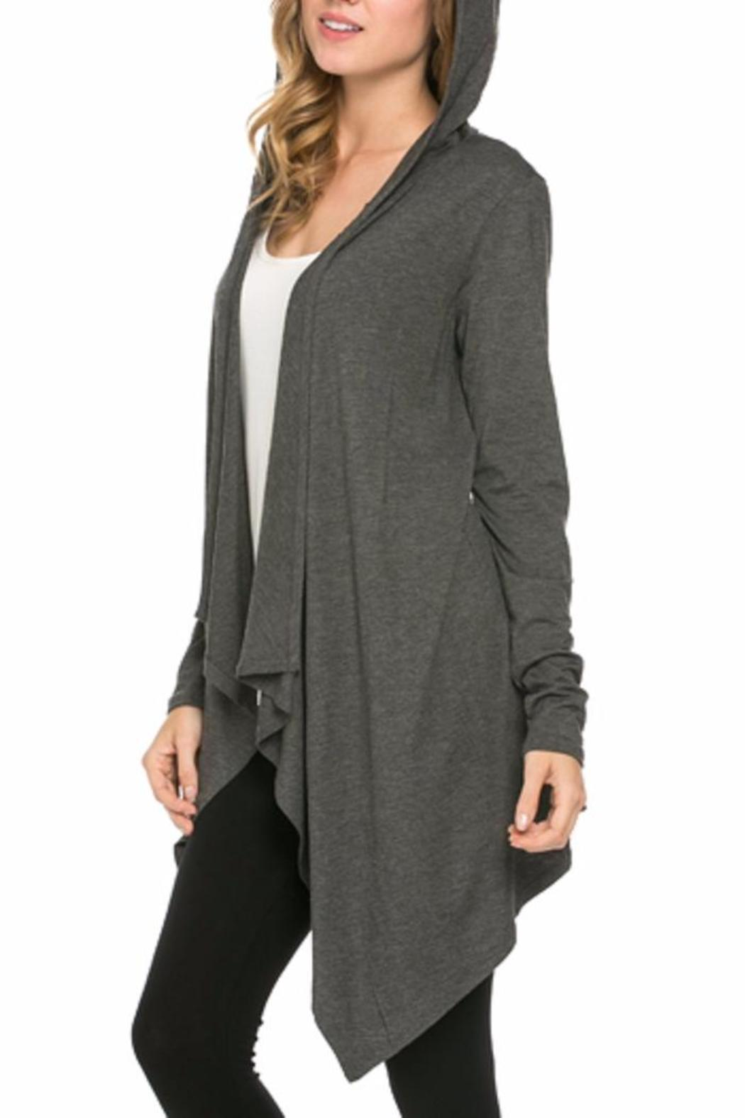 Azules Open Cardigan Hoody - Side Cropped Image