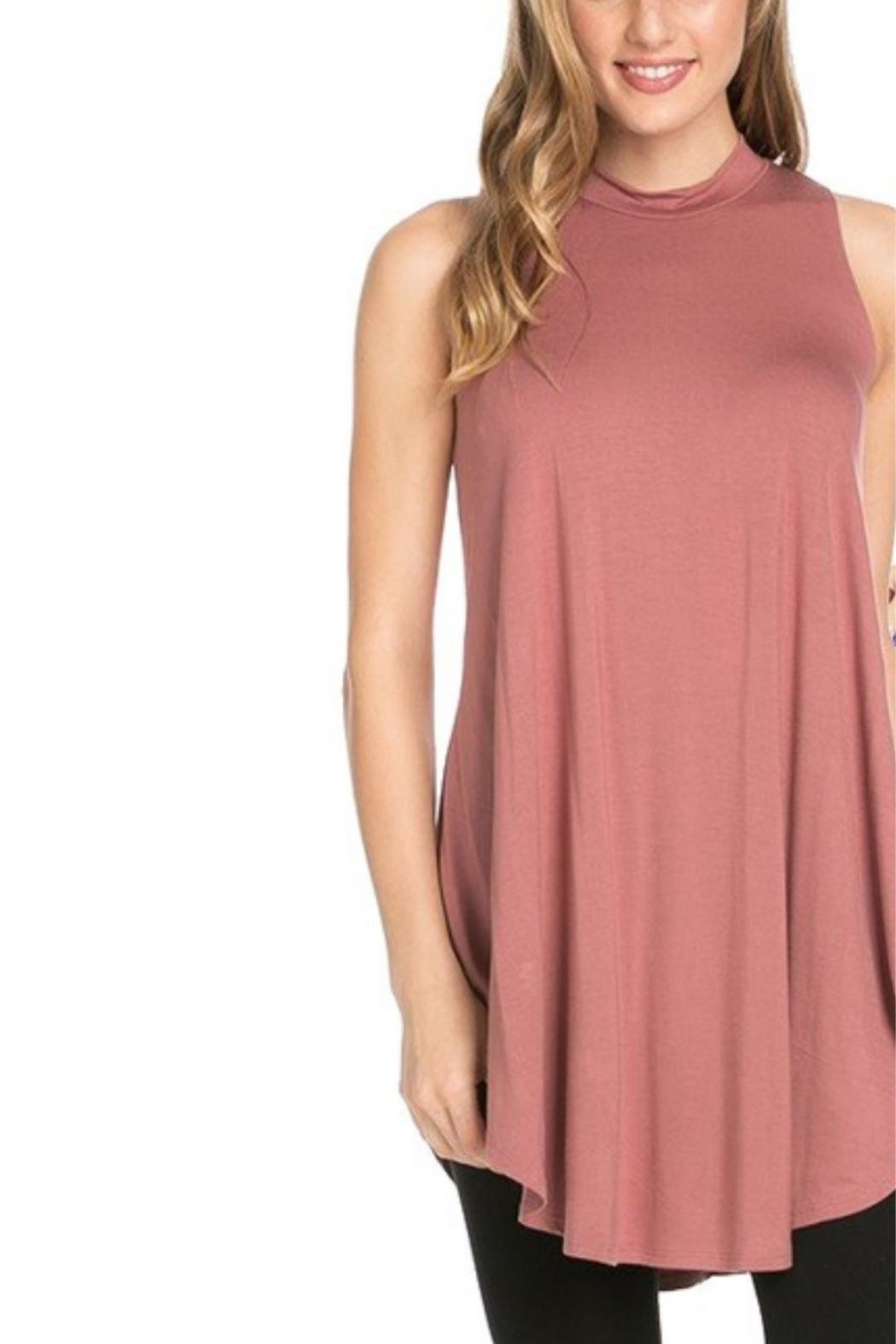 Azules Sleeveless High-Neck Top - Front Cropped Image