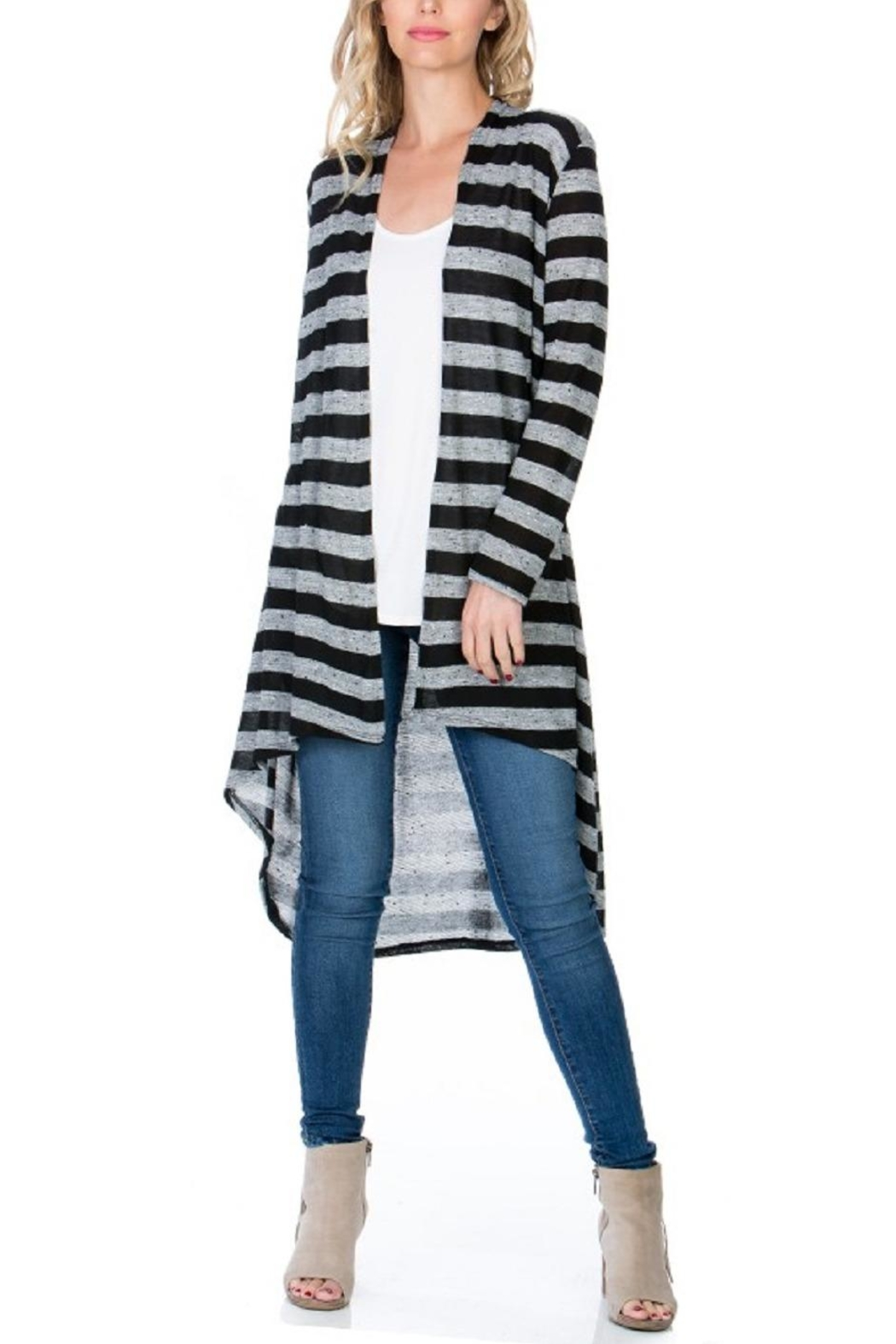 Azules Striped Long Cardigan - Main Image