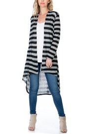 Azules Striped Long Cardigan - Front cropped