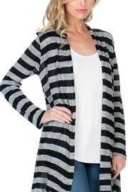 Azules Striped Long Cardigan - Back cropped