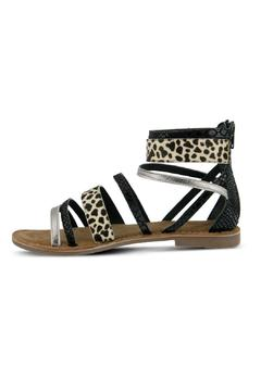 Azura Black Leather Sandal - Product List Image