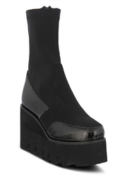 Azura Black Patent Boots - Product Mini Image