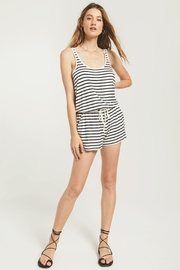 z supply Azure Stripe Romper - Front cropped