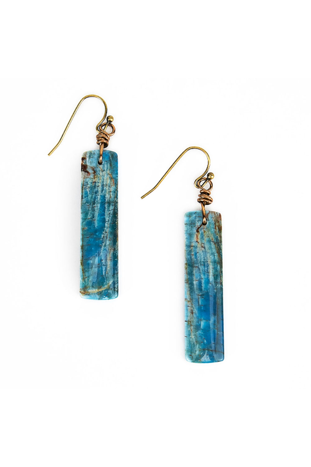 The Birds Nest AZURITE RECTANGLE EARRINGS - Main Image