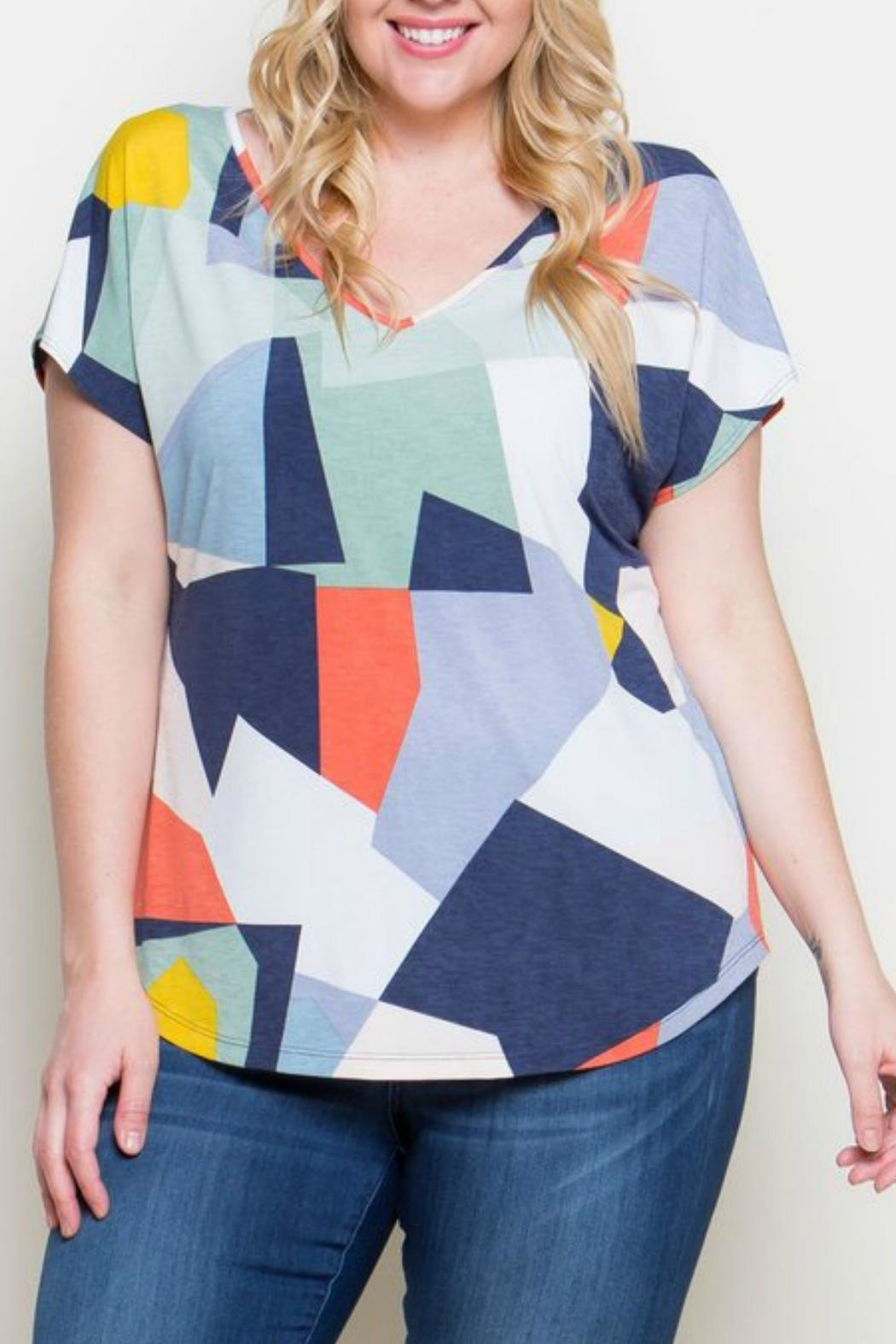 B.E. Leia Abstract Tee - Front Cropped Image