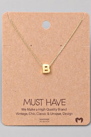 Fame Accessories B-Initial Pendant Necklace - Product Mini Image