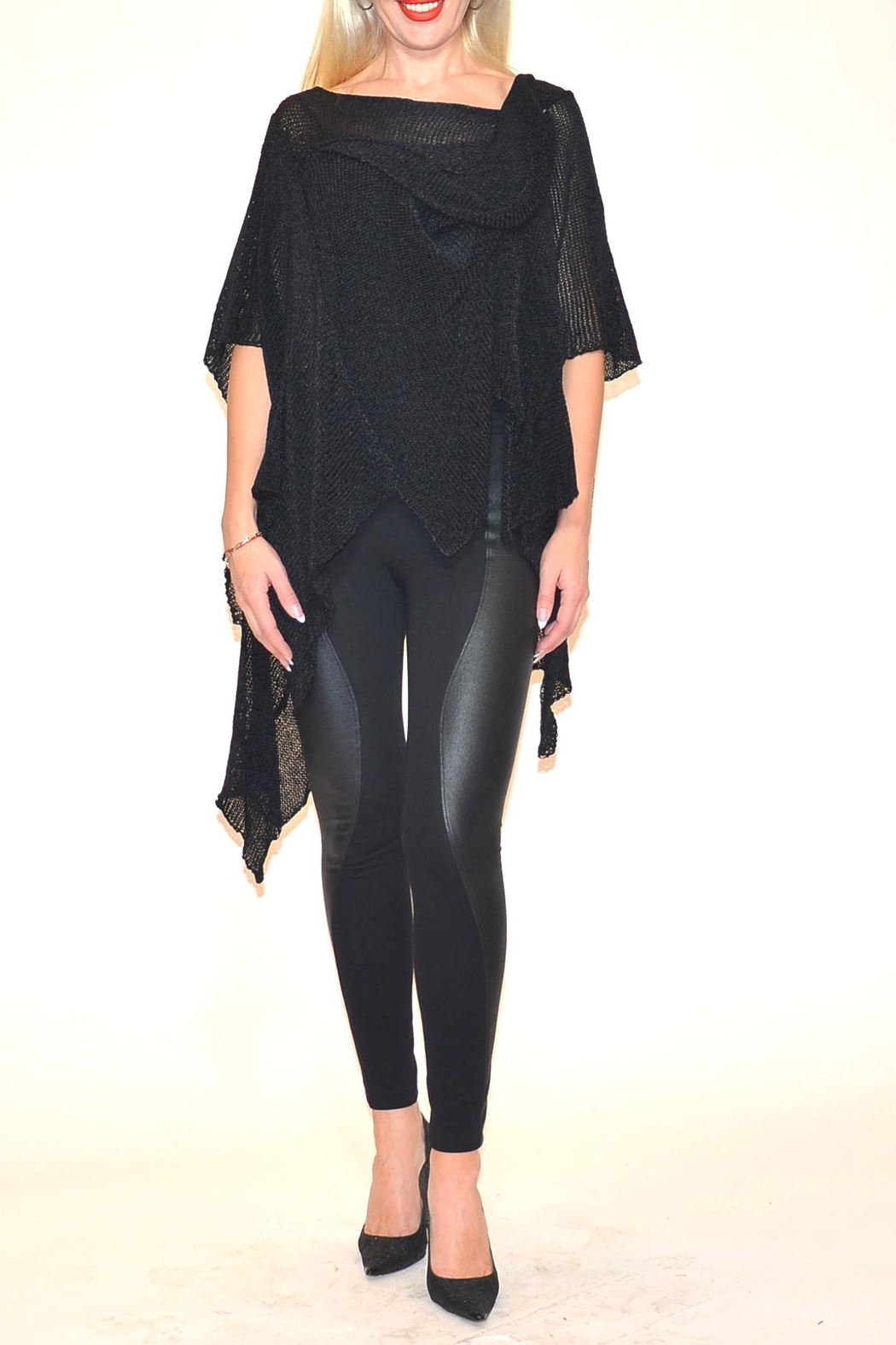 B&K moda Asymmetrical Pullover - Front Cropped Image
