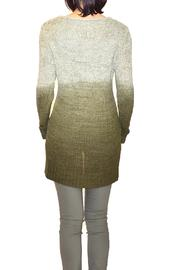 B&K moda Dip-Dyed Olive Sweater - Front full body