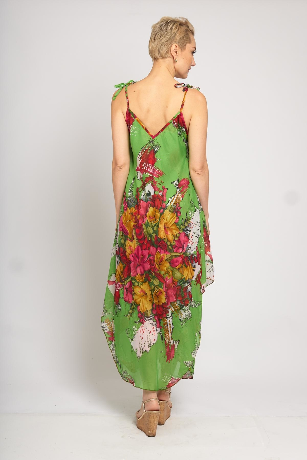 B&K moda Floral Print Dress - Front Full Image