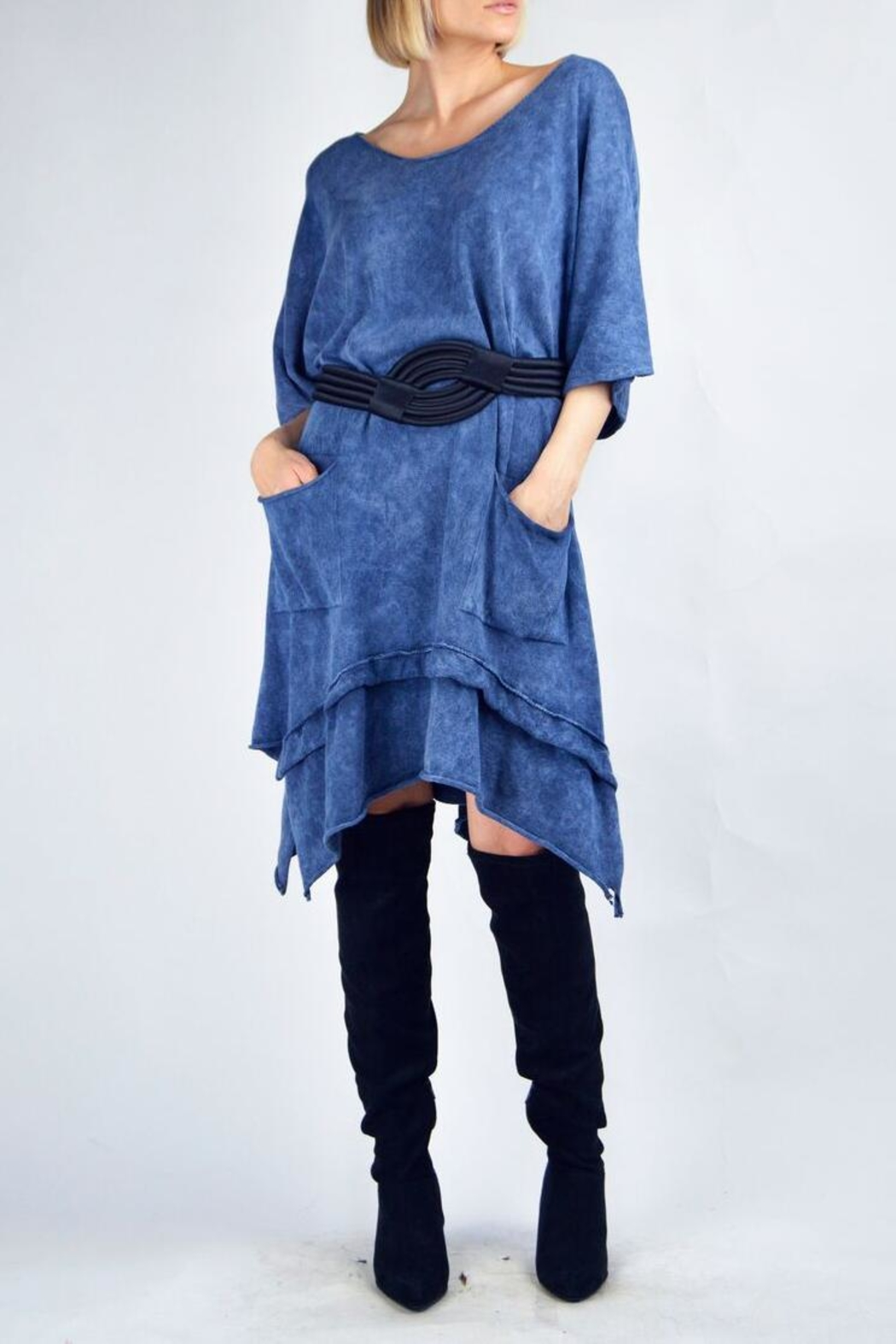 B&K moda L/s Dress With Pockets - Front Cropped Image