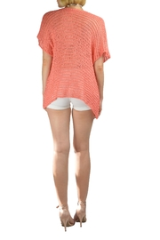 B&K moda Open Weave S/s Asymmetrical Pullover - Product Mini Image