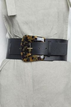 Shoptiques Product: Black Cece Tortoise Belt