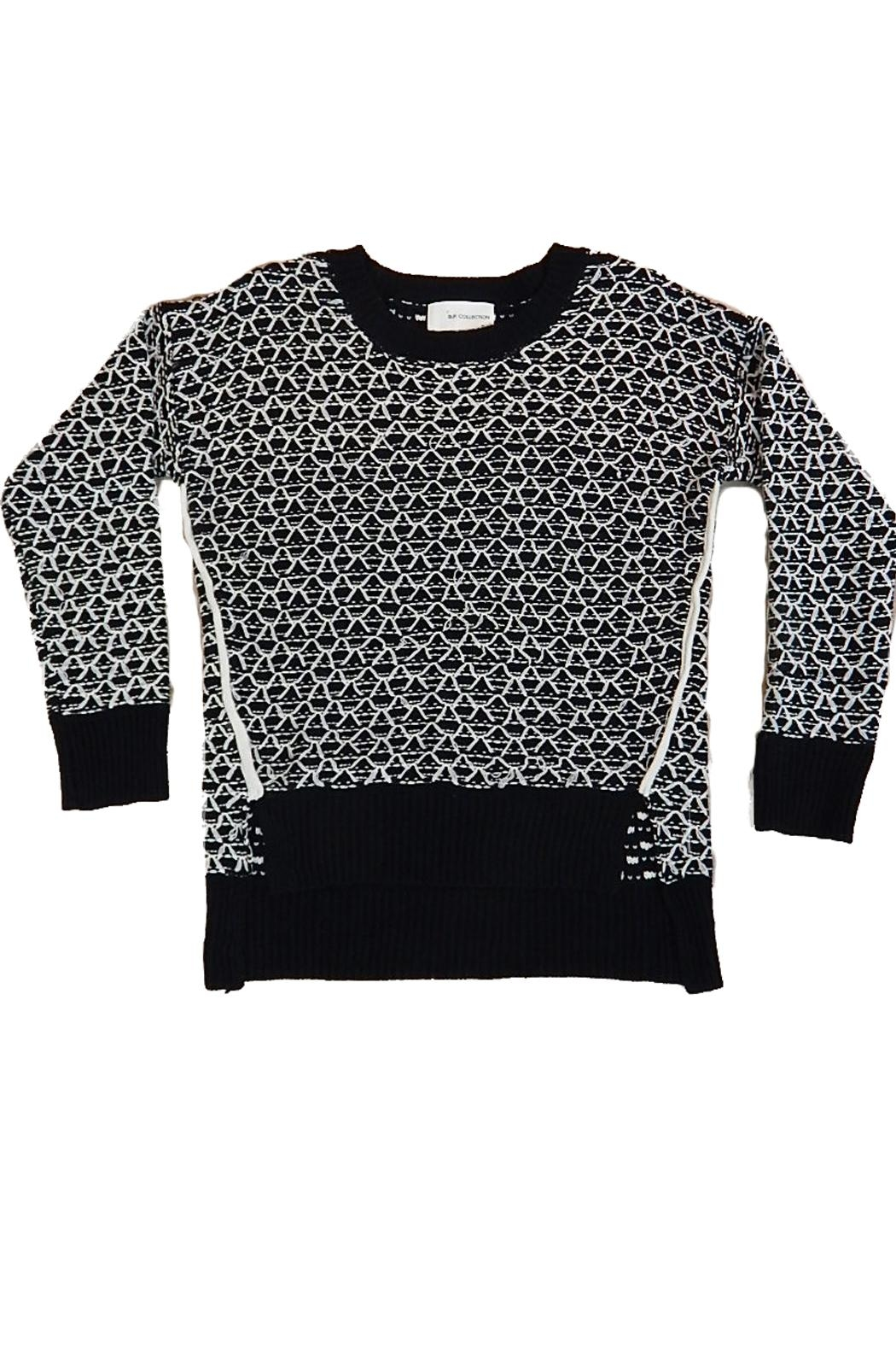 B.P. Collection Black White Sweater - Main Image