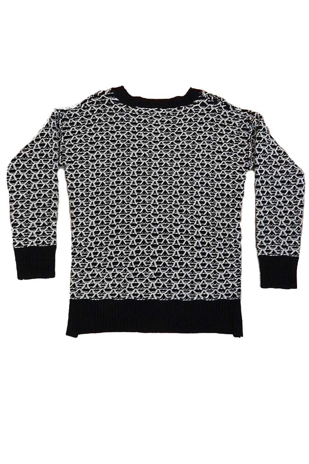 B.P. Collection Black White Sweater - Front Full Image