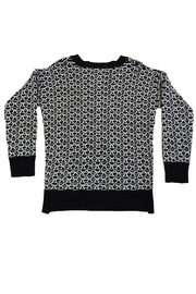 B.P. Collection Black White Sweater - Front full body