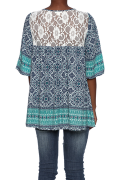 B-Sharp Boho Lace Trim Tunic - Alternate List Image