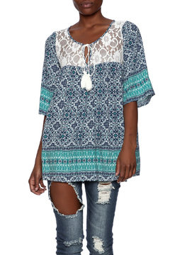 B-Sharp Boho Lace Trim Tunic - Product List Image