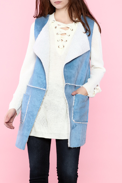 Shoptiques Product: Sky Blue Vest