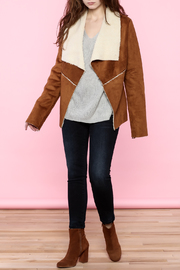 B-Sharp Suede Jacket - Front full body