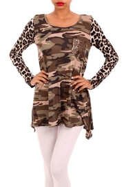 B-Tween Long Sleeve Camo Top - Front cropped