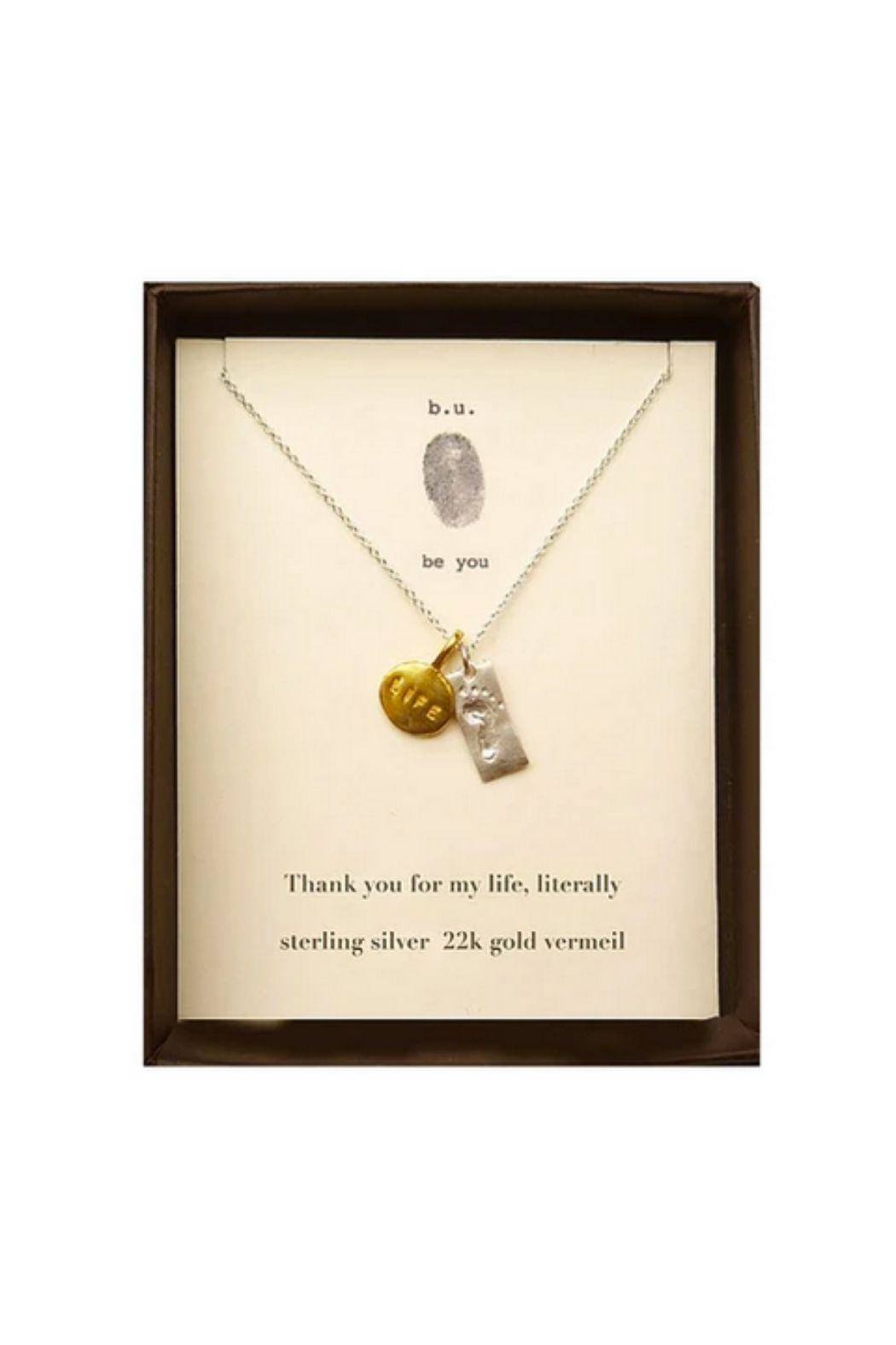 b.u. Jewelry Thank You Necklace - Main Image