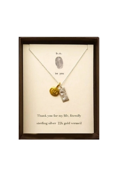 b.u. Jewelry Thank You Necklace - Alternate List Image