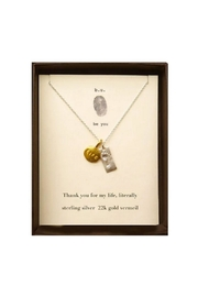 b.u. Jewelry Thank You Necklace - Front cropped