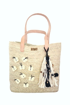 Shoptiques Product: B&W Butterfly Tote