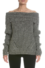 Elan B&W Off-The-Shoulder Sweater - Product Mini Image