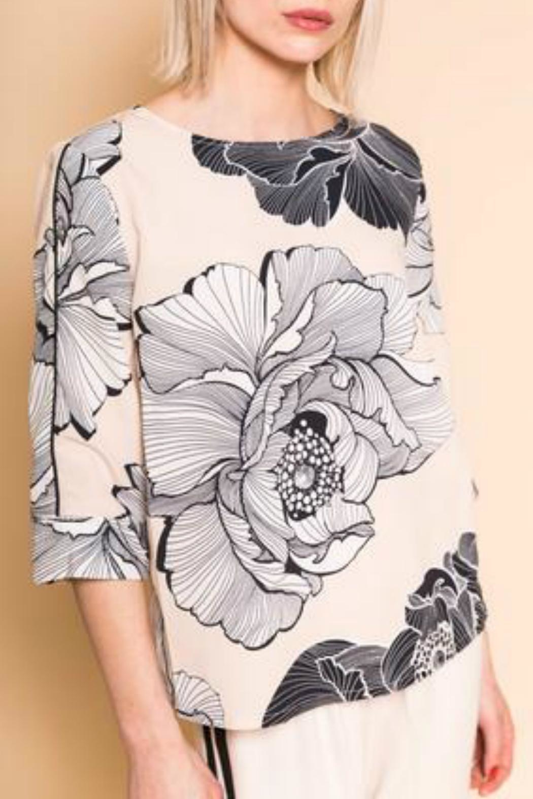 B.young Boxy Floral Blouse - Main Image