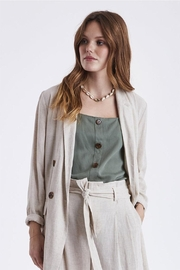 B.young Linen Blazer - Front cropped