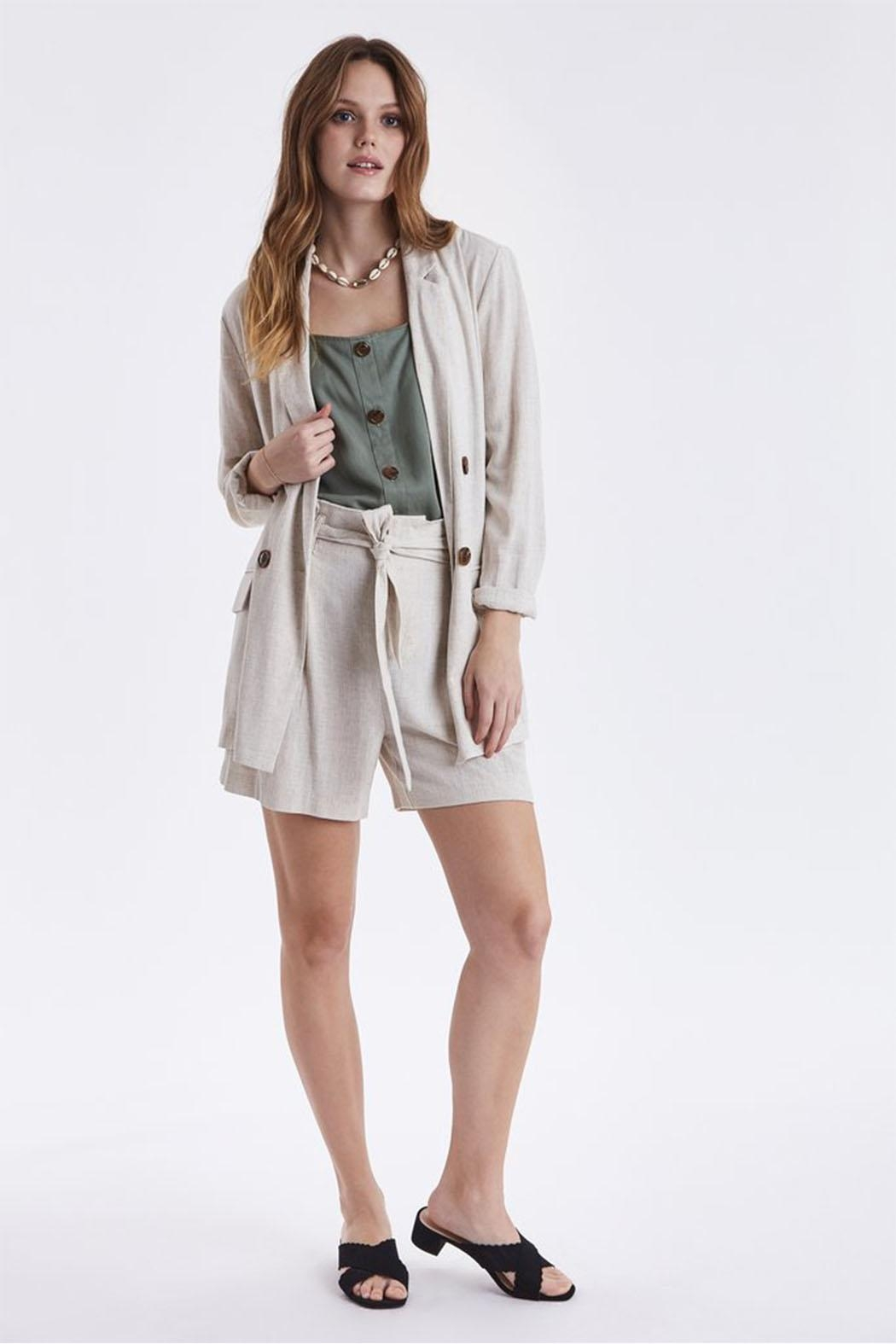B.young Linen Blazer - Side Cropped Image