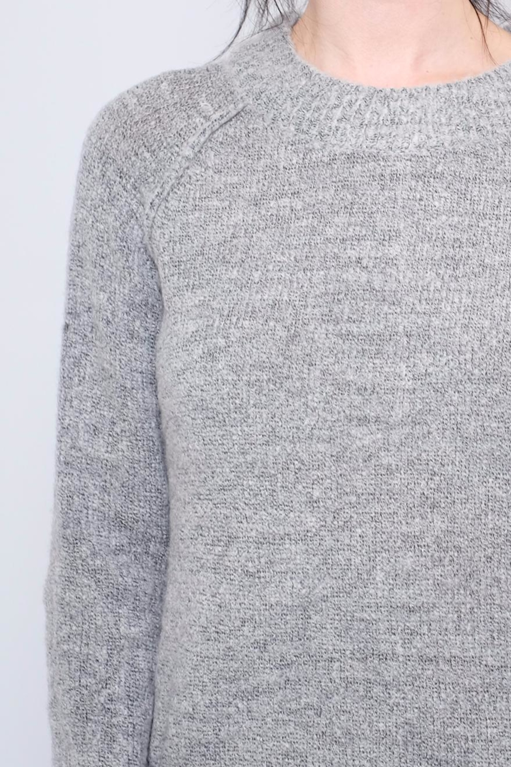 B.young Plush Mock Neck Pullover - Back Cropped Image