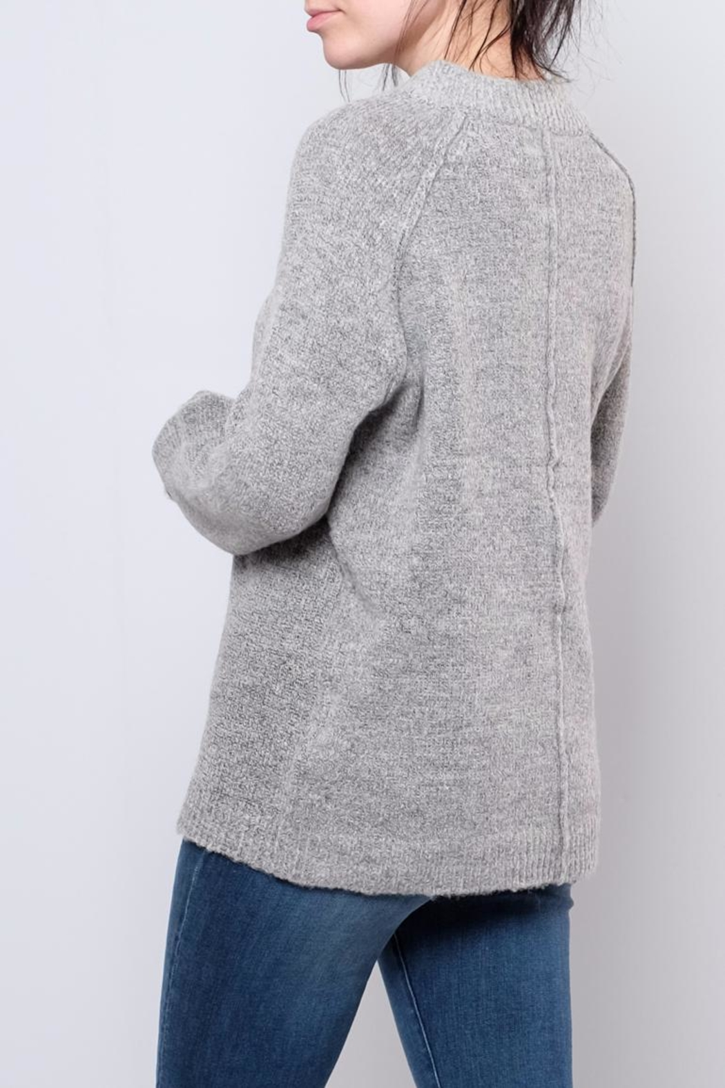 B.young Plush Mock Neck Pullover - Side Cropped Image