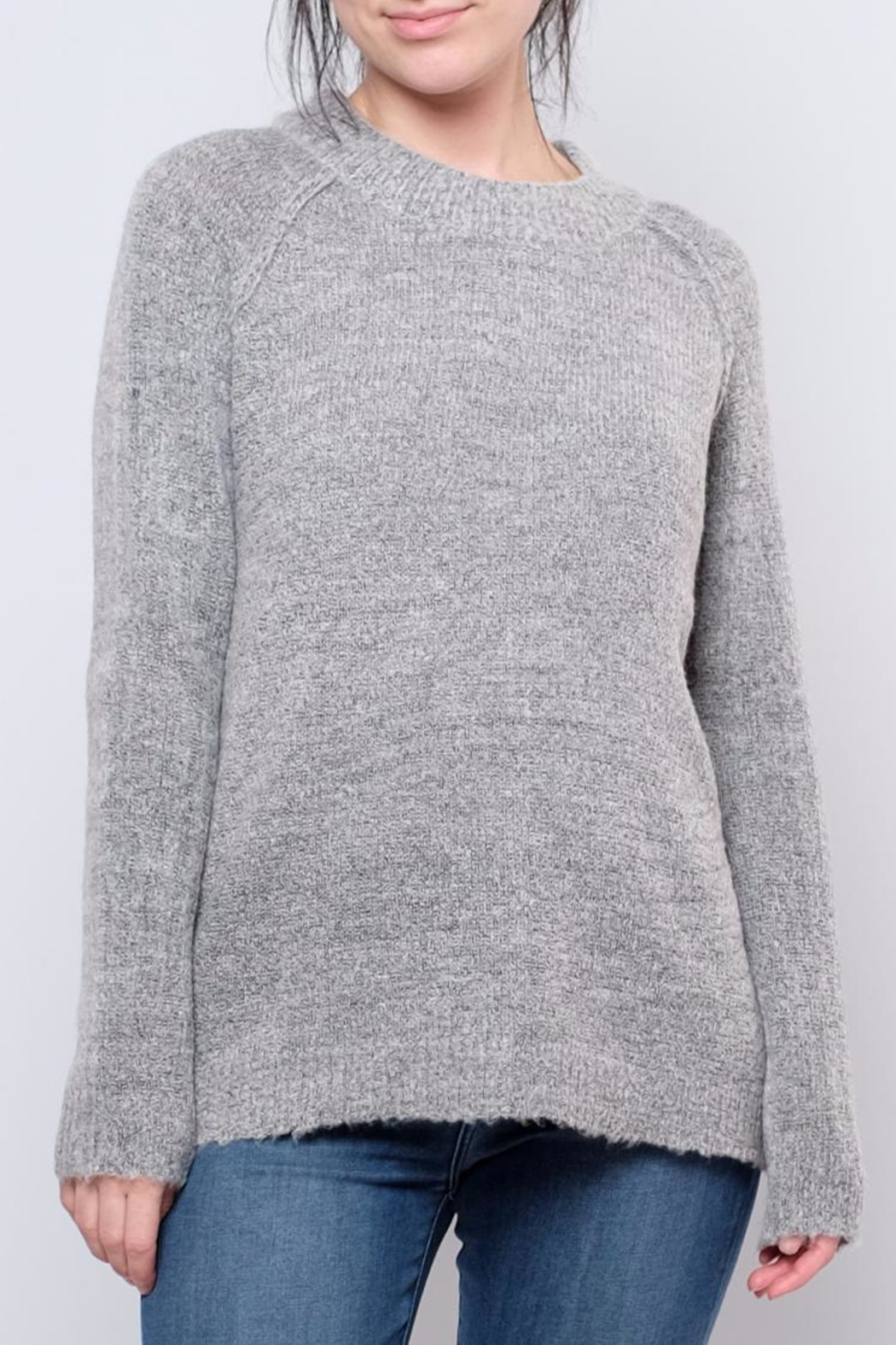 B.young Plush Mock Neck Pullover - Main Image