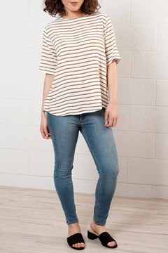 B.young Relaxed Striped Top - Alternate List Image