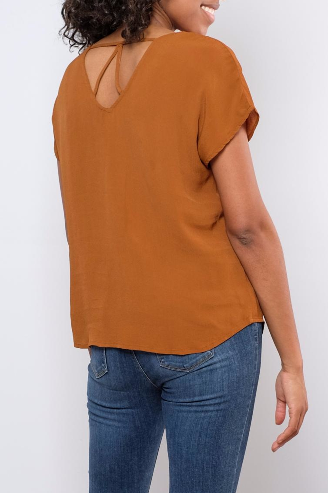 B.young Strap Detail Blouse - Back Cropped Image