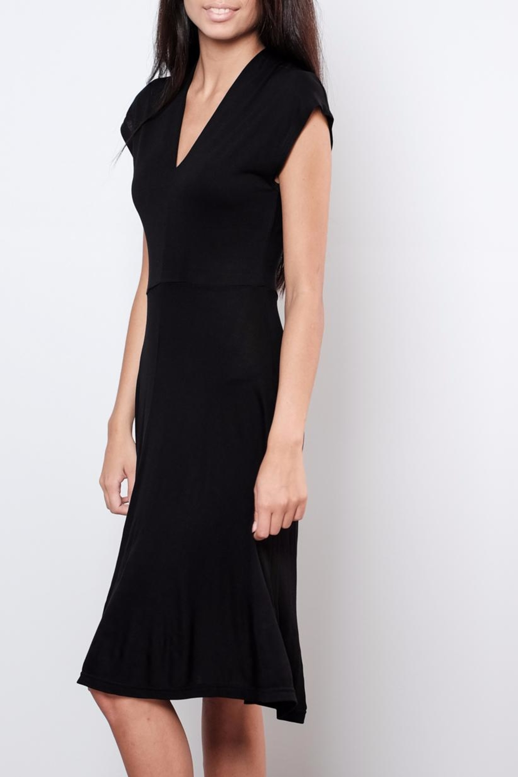 B.young V Neck Midi Dress - Side Cropped Image