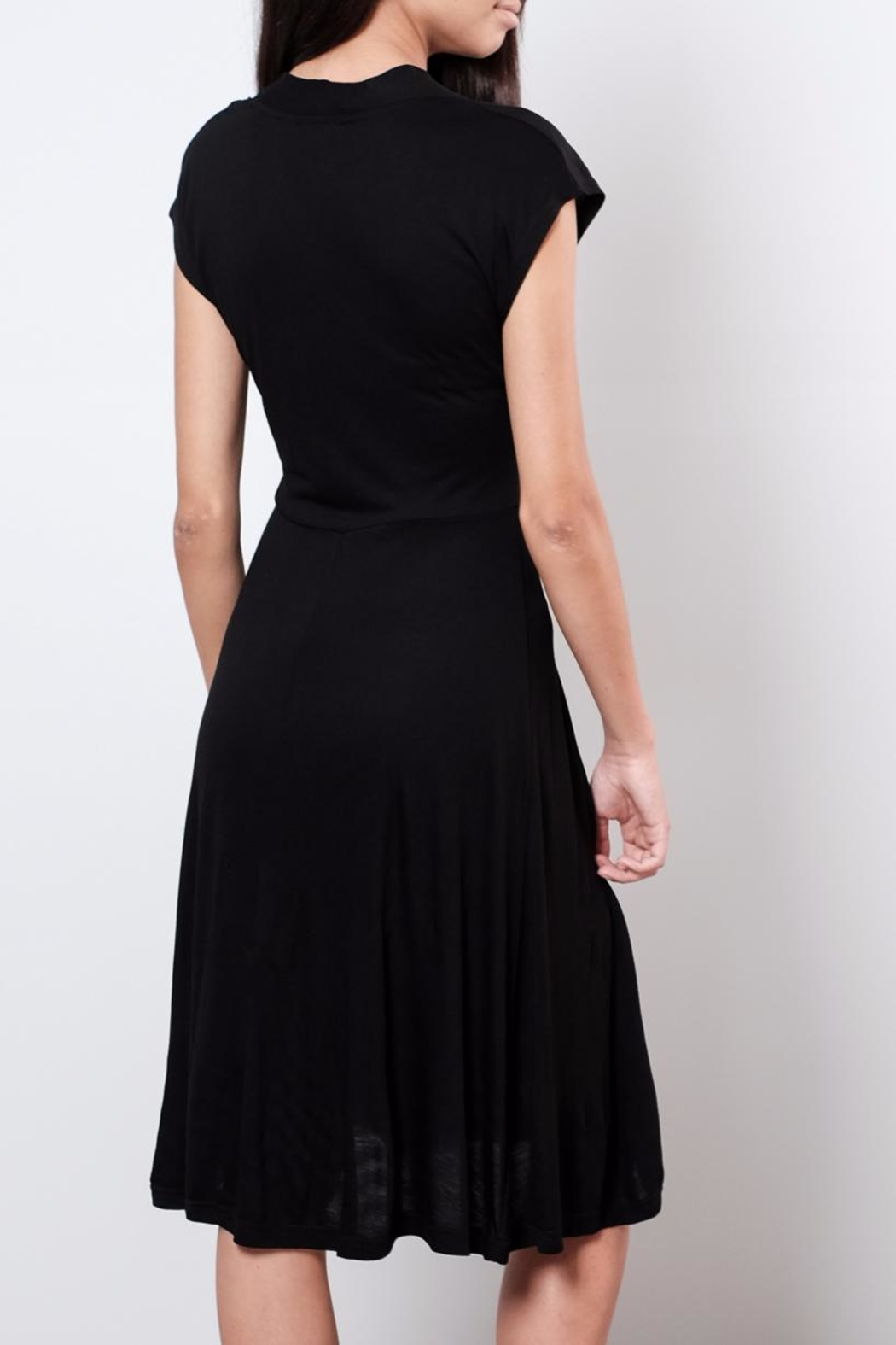 B.young V Neck Midi Dress - Back Cropped Image
