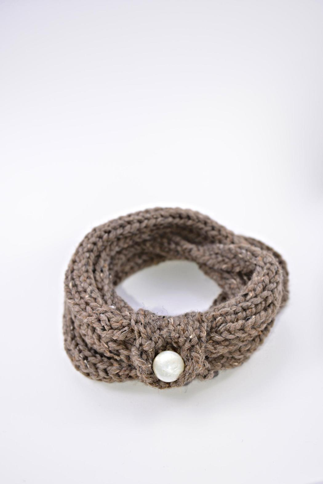Local Artist  Finger-Knit Infinity Scarf - Main Image