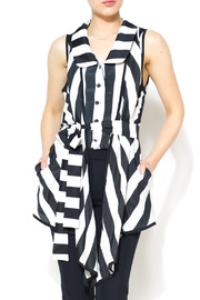 Nico LA Striped Belted Top - Front cropped