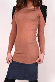 Private Label Ribbed Shoulder Sweater - Product Mini Image
