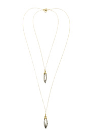 Zia 2 Tiered Vintage Glass Necklace - Product Mini Image