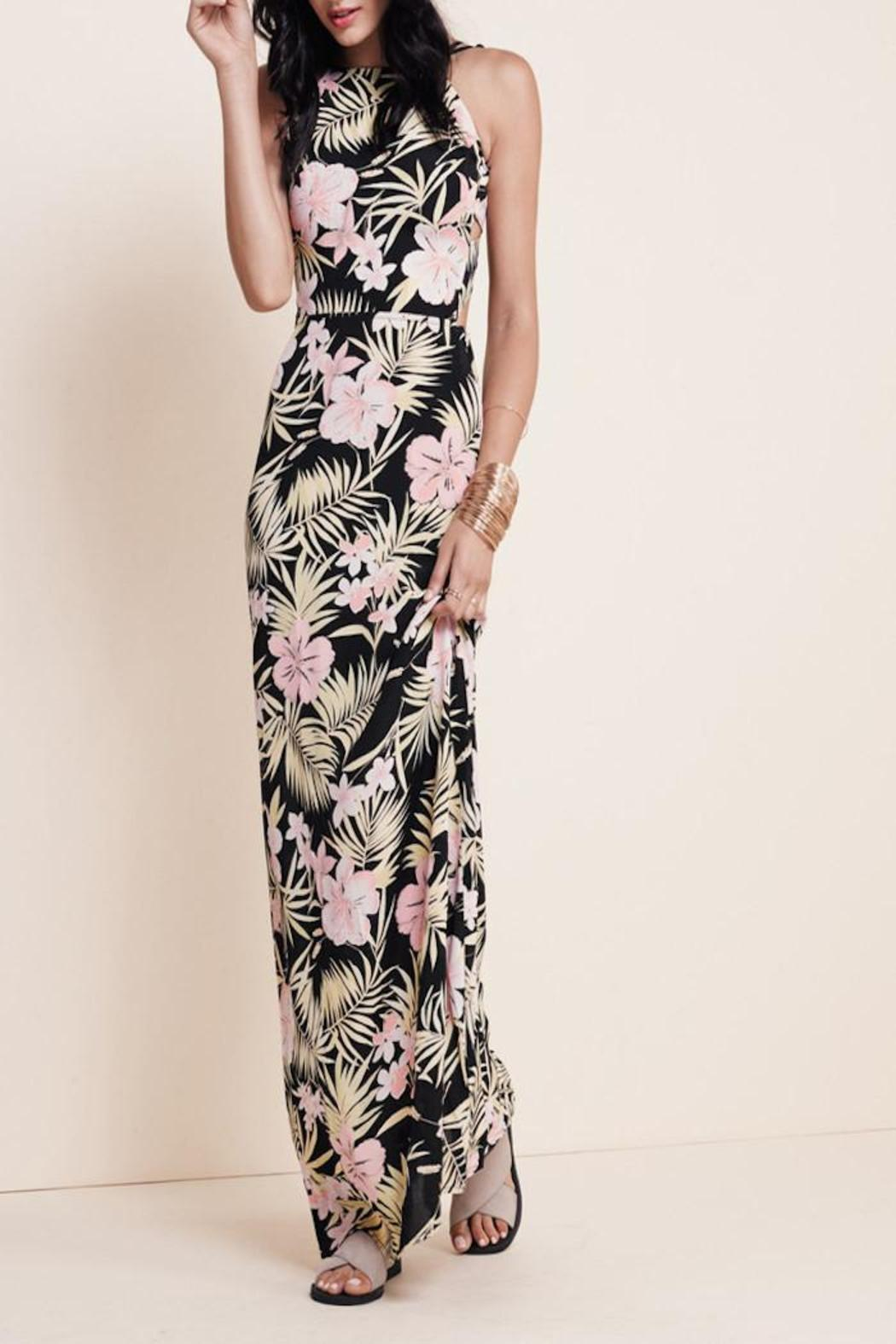 FOR LOVE & LEMONS Palms Maxi Dress - Side Cropped Image